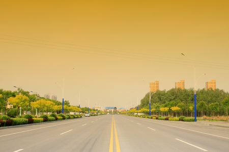habitable: Urban road landscape, closeup of photo