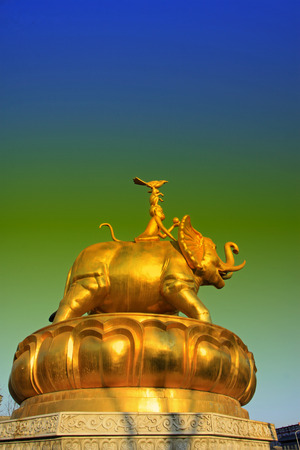 tantra: Hohhot City - February 5: Harmony four sculpture in the Xilituzhao Lamasery, on February 5, 2015, Hohhot city, Inner Mongolia autonomous region, China Stock Photo