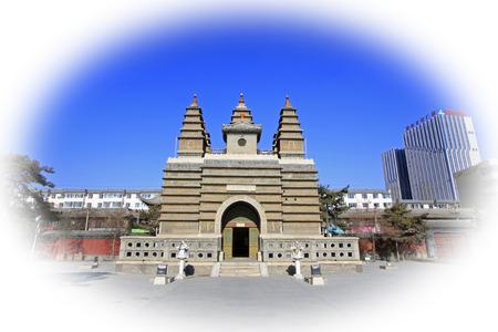 tantra: Hohhot City - February 5: Sarira pagoda building landscape in the Five Pagoda Temple, on February 5, 2015, Hohhot city, Inner Mongolia autonomous region, China Editorial