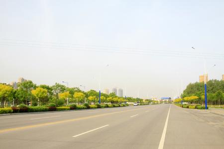 traffic building: Urban road landscape, closeup of photo