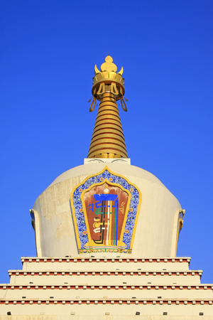 tantra: Hohhot City - February 6: Khan treasure pagoda building scenery, on February 6, 2015, Hohhot city, Inner Mongolia autonomous region, China