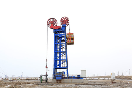 pumping unit: oilfield tower pumping unit in Jidong, China