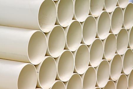 plastic pipe: Polyethylene plastic pipe, close up