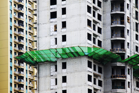 uncompleted: High-rise building under construction Editorial