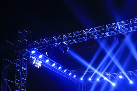 stage lights: stage lights and metal frame
