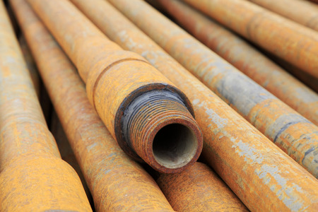 corrosion: Oil pipes Stock Photo