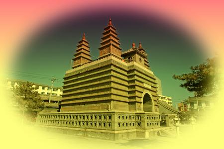 restore ancient ways: Hohhot City - February 5: Sarira pagoda in the Five Pagoda Temple, on February 5, 2015, Hohhot city, Inner Mongolia autonomous region, China