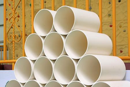 kunststoff rohr: Polyethylen-Kunststoff-Rohr, Nahaufnahme von Foto Editorial