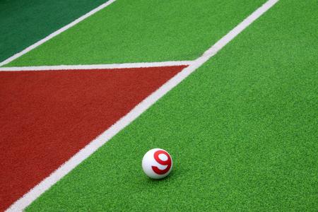 toughness: Chinese gate ball playground, closeup of photo