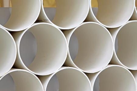 thermoplastic: Polyethylene plastic pipe, closeup of photo