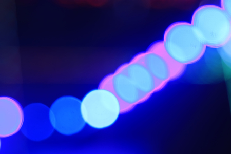 fuzzy: stage lights and fuzzy image, closeup of photo