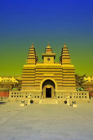 tantra: Hohhot City - February 5: Sarira pagoda in the Five Pagoda Temple, on February 5, 2015, Hohhot city, Inner Mongolia autonomous region, China