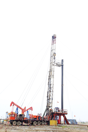 Jidong oil field drilling in china, closeup of photo