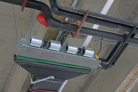vents: Central air-conditioning vents and pipeline