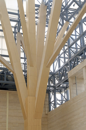 hard component: metal frame construction structure, closeup of photo Stock Photo