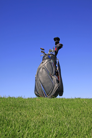 golf bag: golf bag, closeup of photo