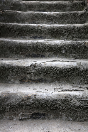 Very aging stair steps, closeup of photo Stock Photo