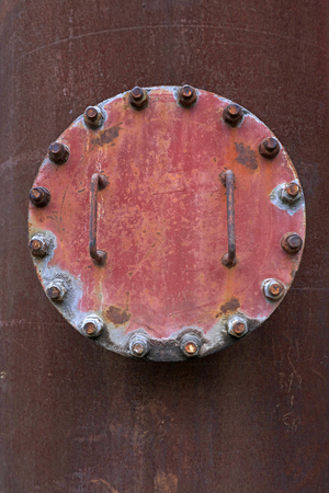 rust metal: oxidation rust metal plate, closeup of photo