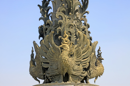 tangshan city: Tangshan City - May 16: phoenix sculpture in a park on May 16,2016, tangshan city, hebei province, China