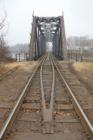 steel frame: Railway bridge steel frame, closeup of photo Stock Photo