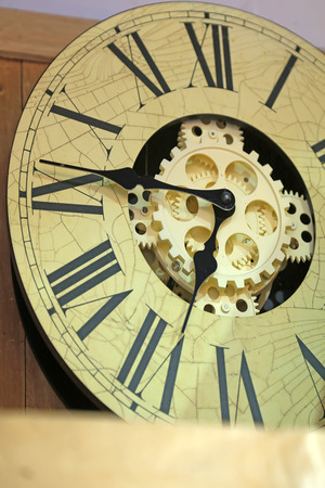 occlusion: Clock dial, closeup of photo