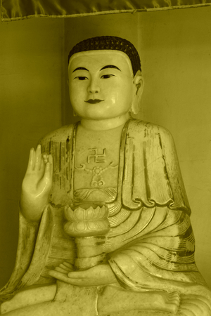 jade buddha temple: Jade Buddha sculpture material, tianjin, china Stock Photo