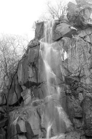north china: waterfall in a geological park, north china