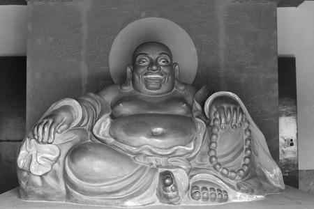 maitreya: Chinese traditional style Maitreya statue, tianjin, china