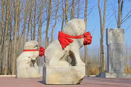 stone carvings: Chinese traditional style stone carvings, closeup of photo Editorial