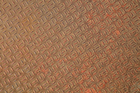 oxidize: oxidize antiskid plate in a factory, closeup of photo Stock Photo