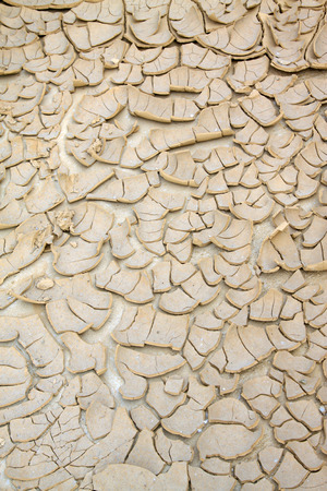 desertification: dry ground in the outdoors, closeup of photo Stock Photo