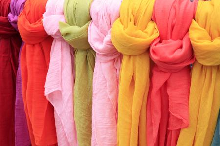 scarves: silk scarves closeup of photo
