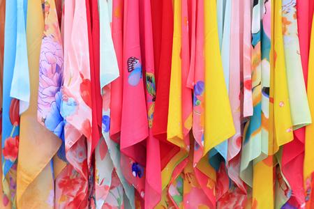 foulards: sciarpe di seta primo piano di foto