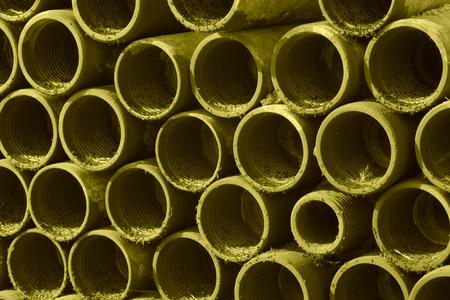 sludge: closeup of pictures, metallic conduit full of sludge