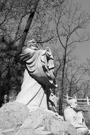 arhat: arhat sculpture in the Panshan Mountain scenic spot, tianjin, China.