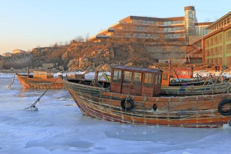 seaside natural scenery in winter