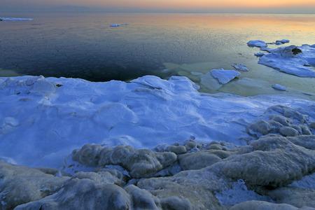 Sea ice natural landscape