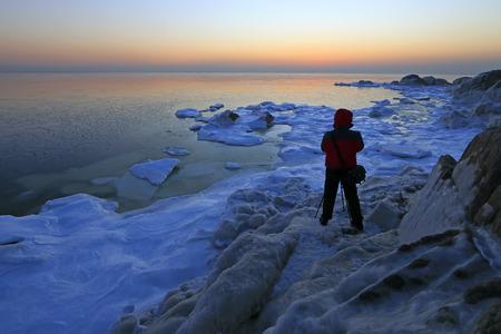 polar environment: seaside scenery, beidaihe, China
