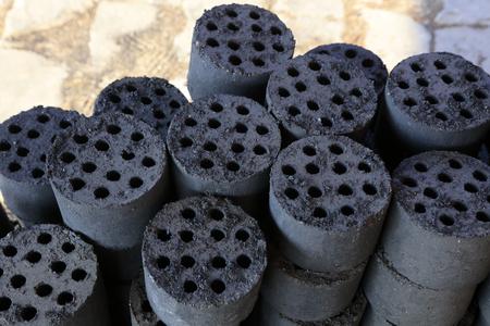 briquette closeup of photo