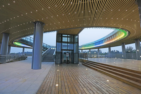 Tangshan - June 21: Low carbon science and technology museum, in tangshan world horticultural exposition, on June 21, 2016, tangshan city, hebei province, China