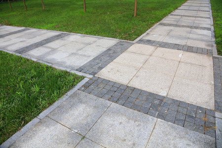 sidewalks: slate road in the park, closeup of photo