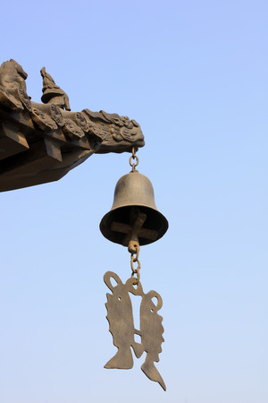 Wind chime in a Chinese temple