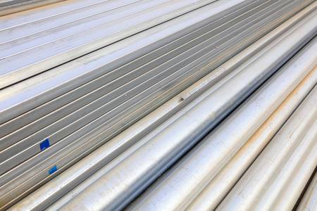 construction materials: iron and steel building materials in the construction site