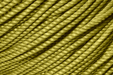 toughness: Blue nylon rope, closeup of photo Stock Photo