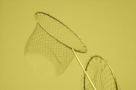 strong toughness: Nylon fishing nets in a market Stock Photo