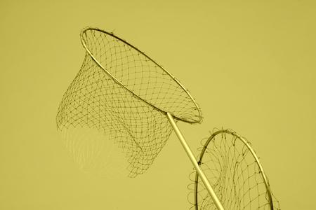 redes de pesca: redes de pesca de nylon en un mercado