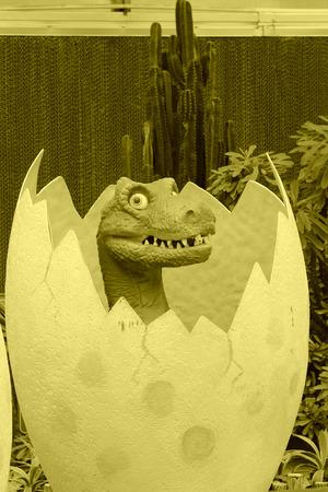 lifelike: BEIJING - OCTOBER 23: Dinosaur model in a park, on october 23, 2014, Beijing, China. Editorial