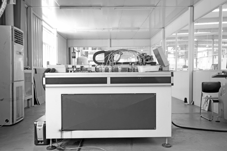 tangshan city: TANGSHAN CITY - MAY 28: Large ink jet printers in a production workshop, on may 28, 2014, Tangshan city, Hebei Province, China
