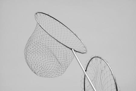 nylon: Nylon fishing nets in a market, closeup of photo