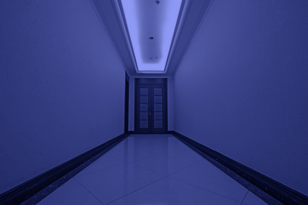 droplight: hotel corridor door, closeup of photo Editorial